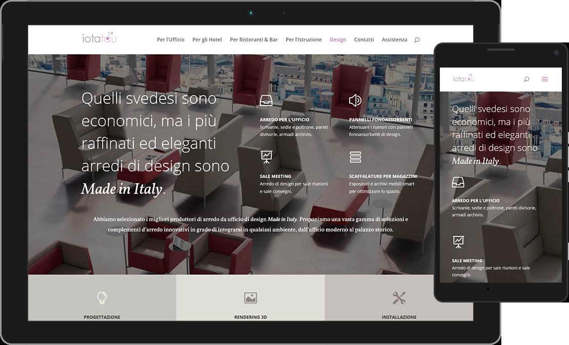 Web design responsive pagina di Design di iotatau