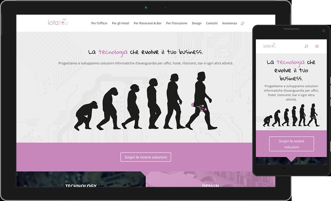 Web design responsive home di iotatau