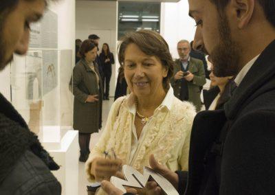 Adriano Alfaro all'inaugurazione della mostra DAB7 al MAXXI