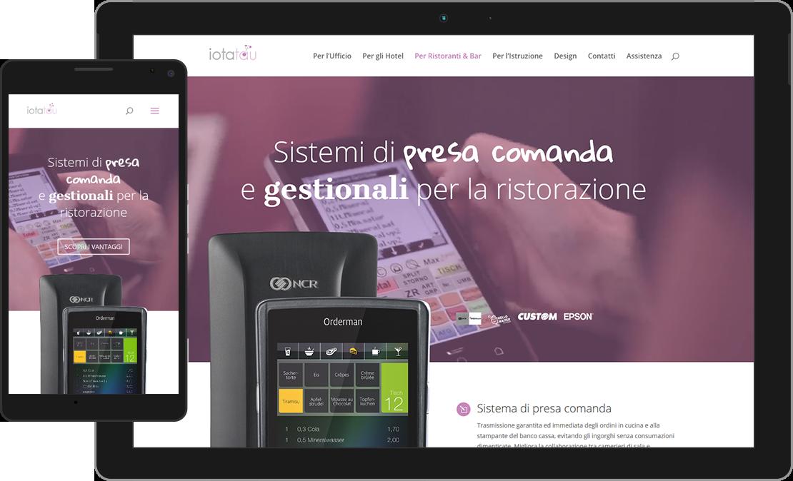 Web design responsive pagina dei Ristoranti di iotatau