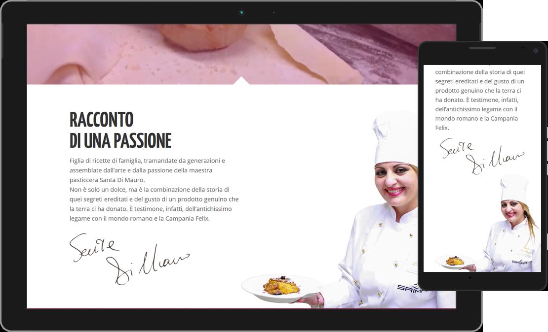 Web design responsive sezione Racconto di una passione de La Mela Stregata