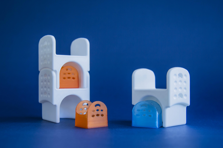 Arredo di design stampato 3D, Castle di Federica Giulivo