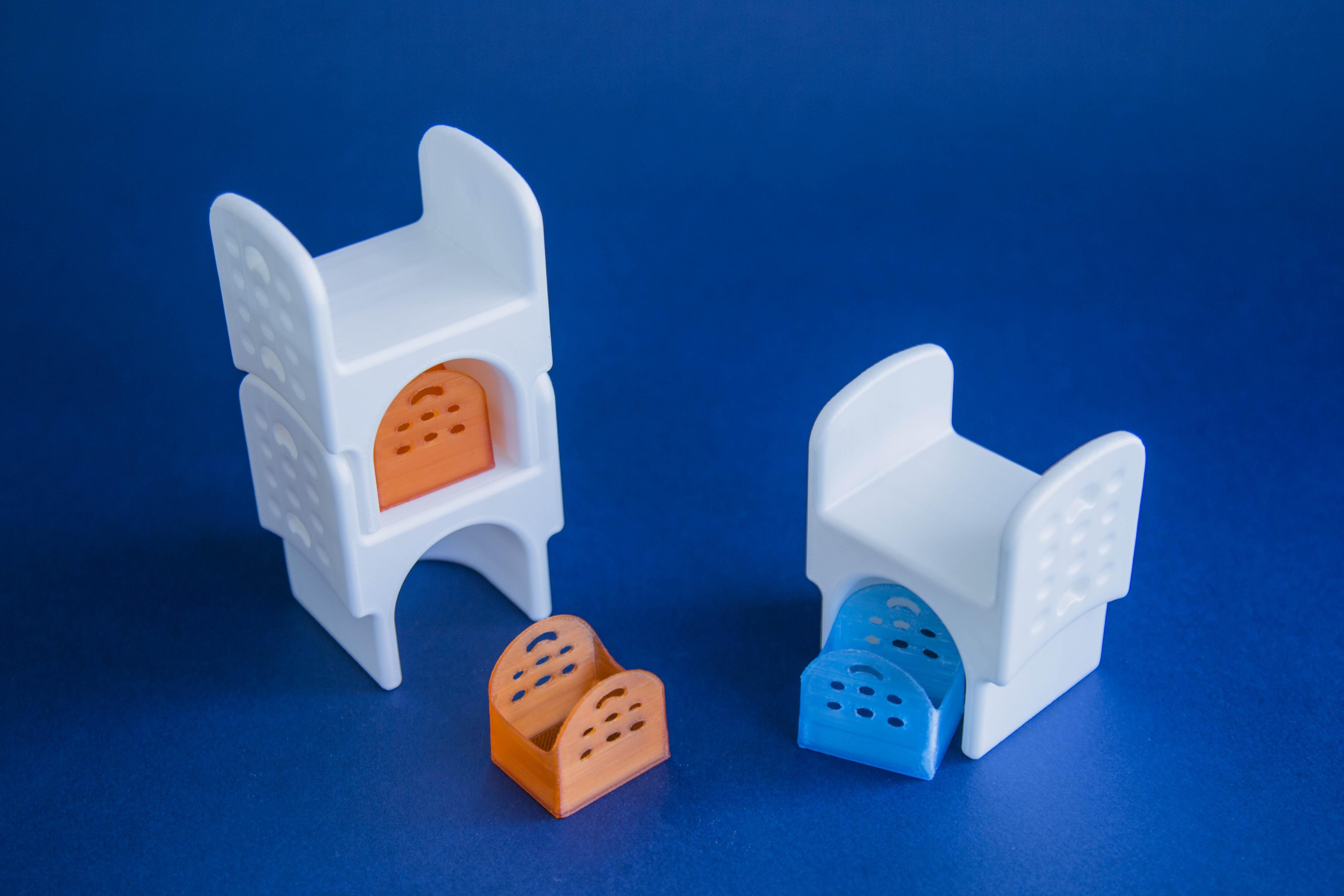 Stampa 3D progetto design esame, Castle di Federica Giulivo