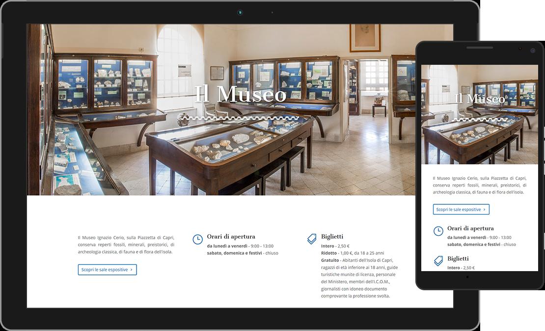 Web design responsive home del Centro Caprense Ignazio Cerio