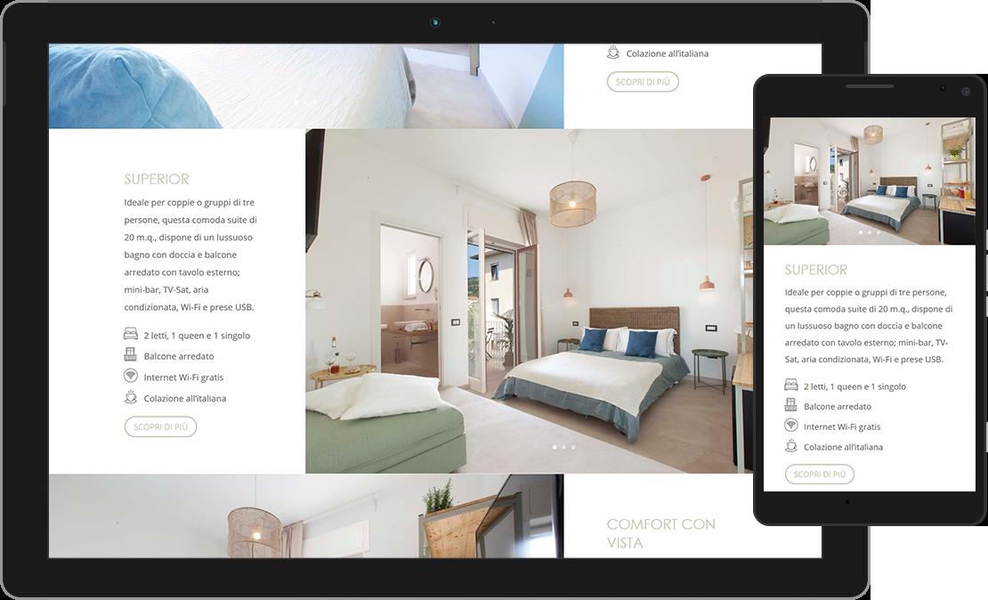 Web design responsive per B&B Mediterranean Suites