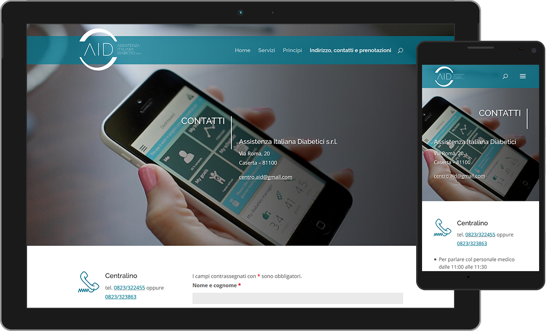 Web design accessibile per l'Assistenza Italiana Diabetici