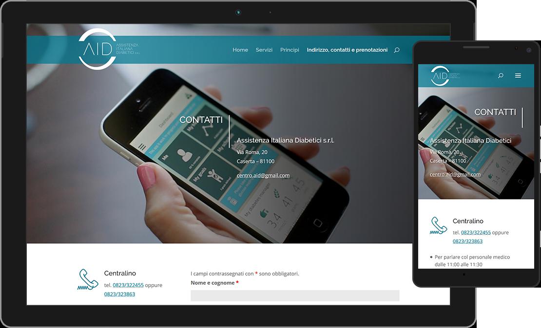 Web design accessibile per l'Assistenza Italiana Diabetici