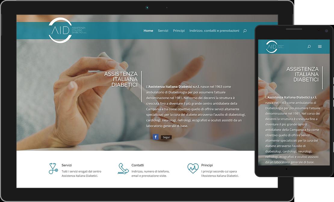Sviluppo sito web Assistenza Italiana Diabetici Caserta