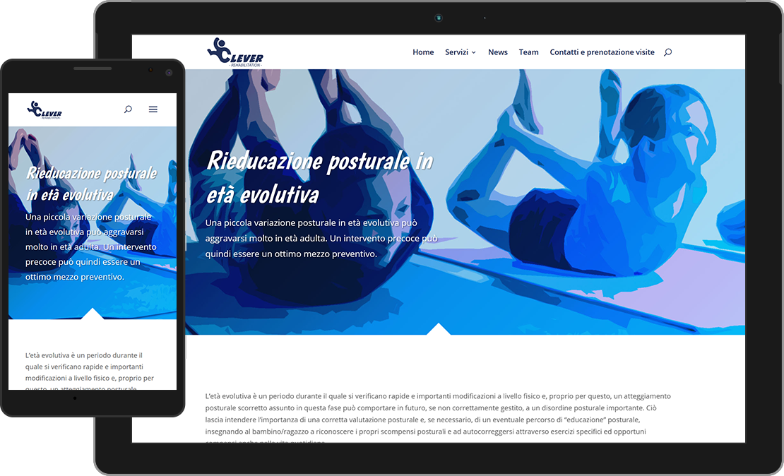 Web design Clever Rehabilitation