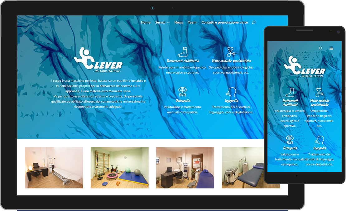 Sito web Clever Rehabilitation