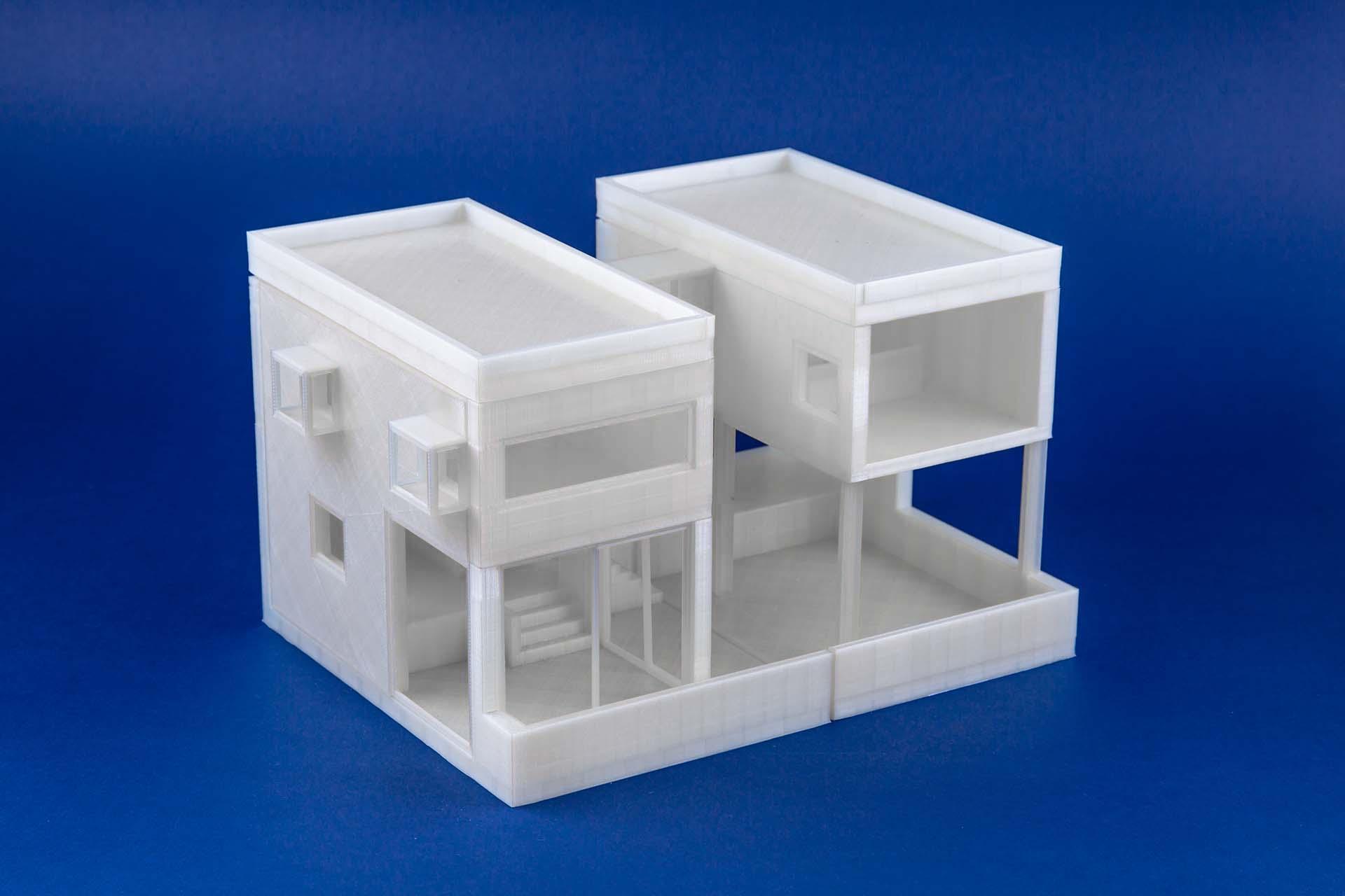 Plastico esame di architettura stampato 3D