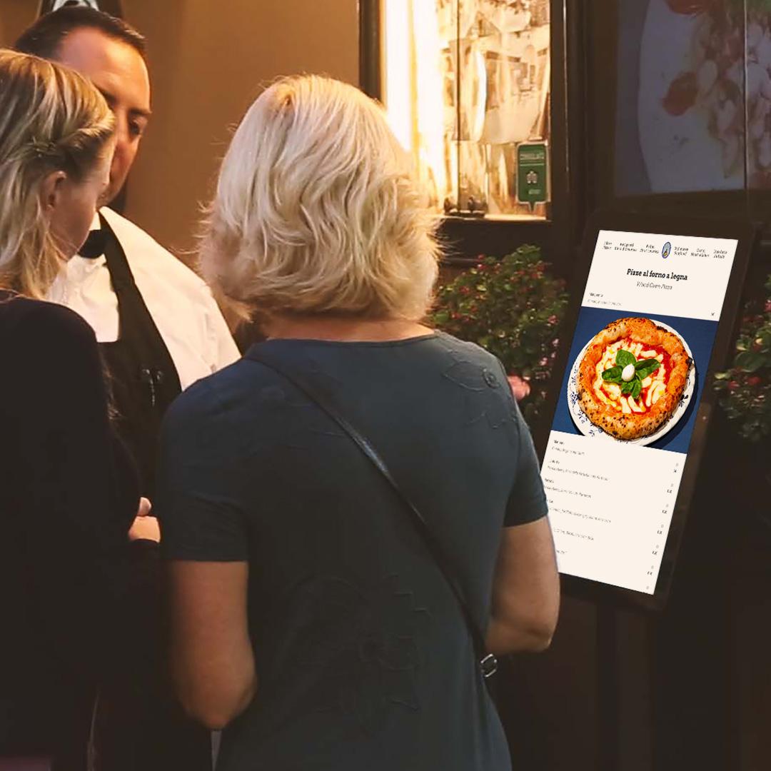 Design delle interfacce di kiosk menu touch per ristoranti e hotel