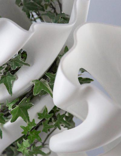 Abbracciame, vaso stampato 3D, by Adriano Alfaro e David Bitton, dettaglio della parte superiore